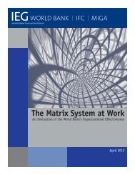 The Matrix System at Work - Independent Evaluation Group - World ...