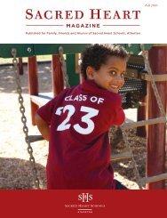 Fall 2010 Sacred Heart Schools Magazine