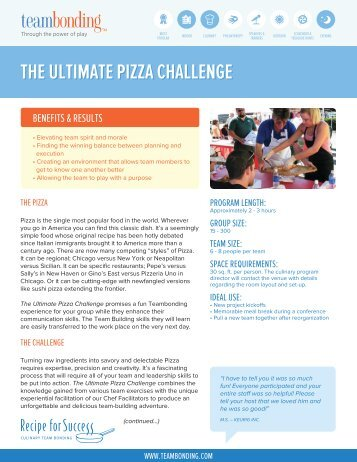 THE ULTIMATE PIZZA CHALLENGE - Team Bonding.com