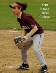 2010 Rhode Island College Softball - Rhode Island College Athletics