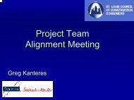 Alignment Meeting Agenda