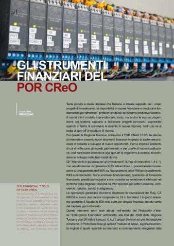 GLI STRUMENTI FINANZIARI DEL POR CReO - TXTmagazine