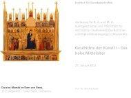 Duccio Maesta - KIT - IKB - Fachgebiet Kunstgeschichte