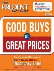 the Fund Factsheet - Prudential ICICI Asset Management