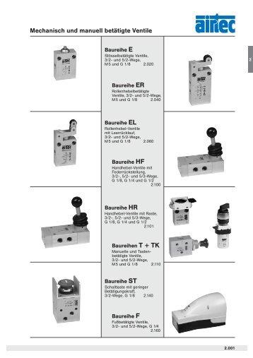 Mechanisch und manuell betätigte Ventile - Siebert Hydraulik ...