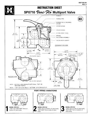 Multiport Parts Diagram Hayward 174 Commercial Pool