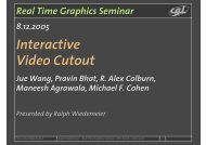 Interactive Video Cutout - ETH Zürich