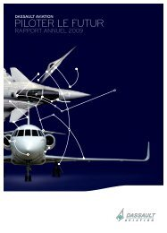 Rapport annuel 2009 - application/pdf - (6.3Mo) - Dassault Aviation