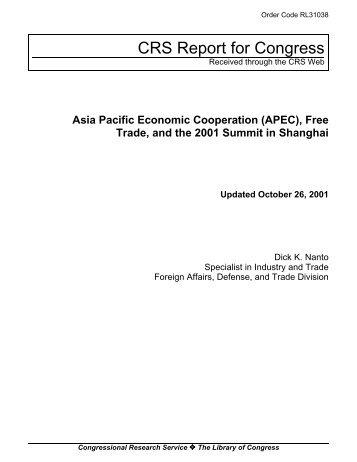 Asia pacific economic cooperation economics essay