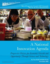 A National Innovation Agenda - Center for American Progress