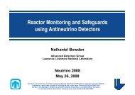 Neutrino Monitoring of Reactors