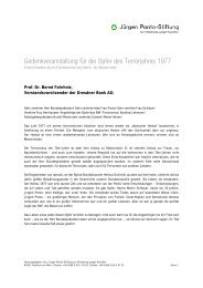Rede Prof. Dr. Bernd Fahrholz, Vorstandsvorsitzender der Dresdner ...