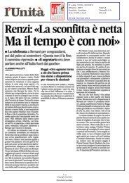 Renzi: «La sconfitta è nettaMa il tempo è con noi - Comune di Firenze