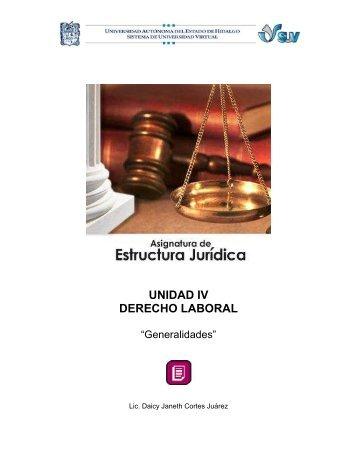 UNIDAD IV DERECHO LABORAL