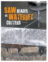 Saw Blades vs. Waterjet Cutters (April 2011) - Cleaner Times