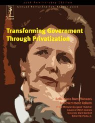Transforming Government Through Privatization - Channeling Reality
