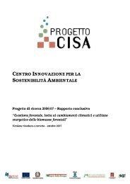 Rapporto conclusivo sfGIS - Progetto di ricerca 2006/07 - Centro CISA