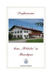 """Dorfmuseum beim """"Hölzler"""" in Trauchgau - Halblech"""