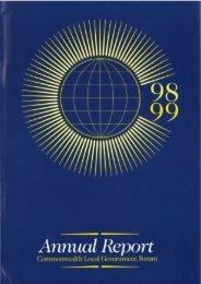 CLGF Annual Report 1998-1999 - Commonwealth Local ...
