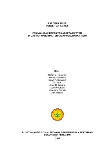 Peningkatan Kapasitas Adaptasi Petani di Daerah Marginal ...