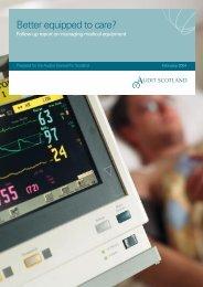 Managing medical equipment - Audit Scotland