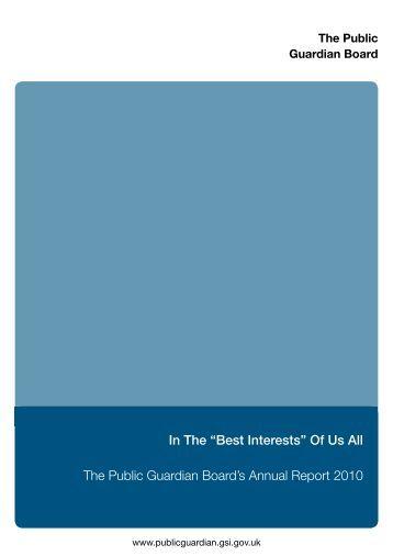 The Public Guardian Board's Annual Report 2010 - Mental Health ...