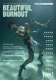 download a pdf of the Beautiful Burnout UK tour ... - Frantic Assembly