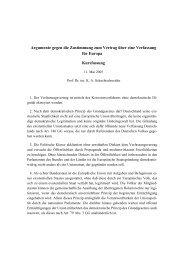 Argumente gegen die Zustimmung zum Vertrag über eine ...