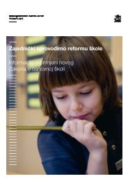 Zajednički sprovodimo reformu škole Informacije o primjeni novog ...