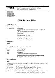 Zirkular Juni 2008 - SGBF-SSMSR
