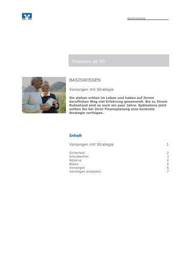 Finanzen ab 50 BASISWISSEN - Berliner Volksbank