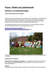 Workshop Protokoll - Planet Diversity