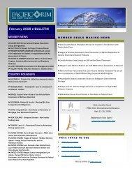 February 2008 eBulletin - Pacific Rim Advisory Council (PRAC)