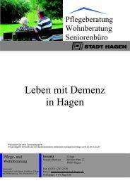 Auswahlliste zum Thema Demenz Stand: März 2011 - Hagen