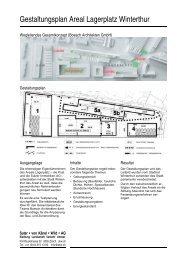 Gestaltungsplan Areal Lagerplatz Winterthur - Suter von Känel Wild ...