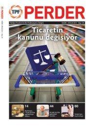 PERDER Dergisi 25.Sayı - Türkiye Perakendeciler Federasyonu