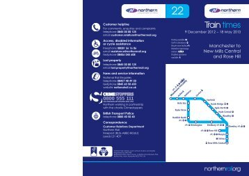 Northern Timetable 22 for web.indd - Northern Rail