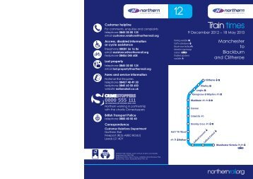 Northern Timetable 12 for web.indd - Northern Rail