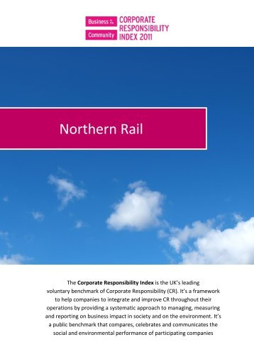 Company X - Northern Rail