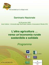 L'altra agricoltura … verso un'economia rurale ... - Fattorie Sociali