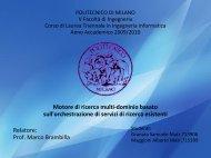 Presentation (PDF, Italian) - Politecnico di Milano