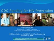 CDC Funding for HIV Prevention - lists.critpath.org Mailing Lists