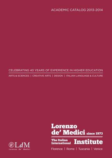 aCademiC Catalog 2013-2014 - Lorenzo de Medici