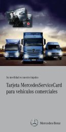 Tarjeta MercedesServiceCard para vehículos comerciales