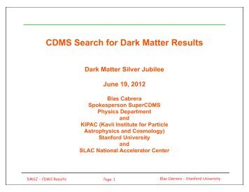 cdms dark matter - photo #27