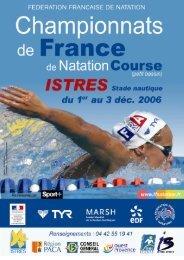 Chpts de France Istres - Fédération Française de Natation
