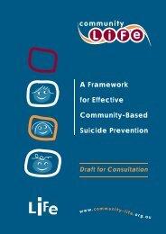 A framework for effective community-based suicide prevention