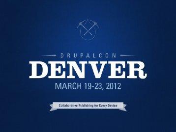 Use Entities! - DrupalCon Denver