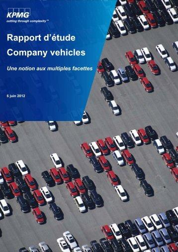 Rapport d'étude Company vehicles Une notion aux - Febiac