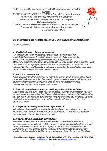 Die Bekämpfung des Rechtspopulismus in den ... - s3plus.info
